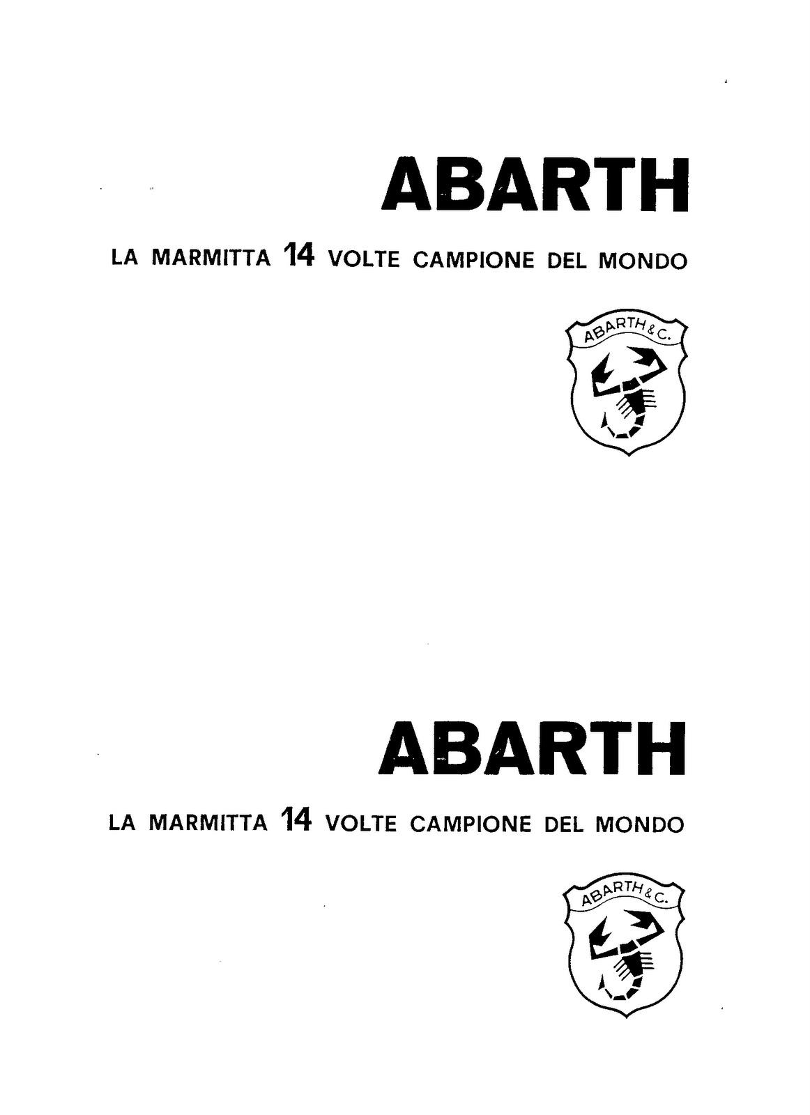 Bicilindriche _ Fiat Abarth: LA CASSETTA DI TRASFORMAZIONE