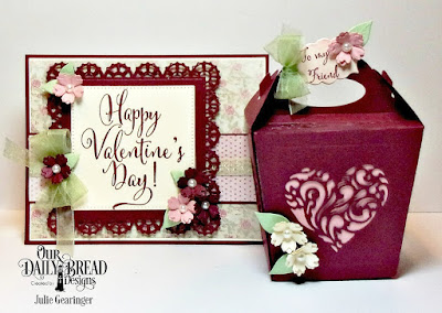 Our Daily Bread Designs Stamp Sets: To My Favorite, Happy Valentine's Day, Custom Dies: Bitty Blossoms, Glorious Gable Box, Heavenly Hearts, Lacey Layered Squares, Pierced Rectangles, Mini Label, Paper Collection: Shabby Rose