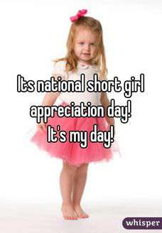 National Short Girl Appreciation Day Wishes Beautiful Image