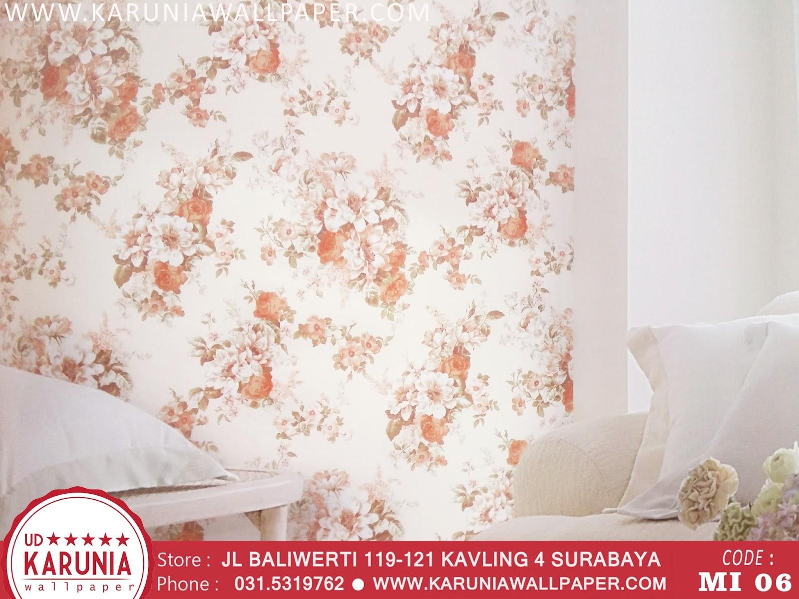 jual wallpaper dinding bunga