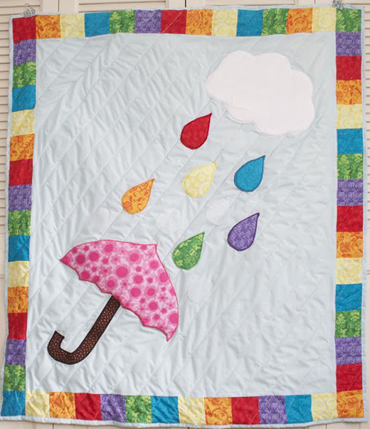 Rainbow Showers Quilt Free Pattern