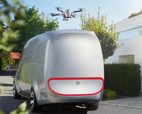 www.Tinuku.com Mercedes-Benz Siapkan Van Cargo Listrik Dilengkapi Drone Pengirim Paket