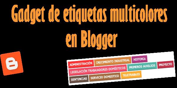 Gadget de etiquetas multicolores en Blogger