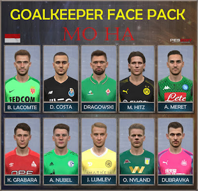 PES 2017 Goal Keeper Facepack by Mo Ha