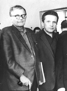 Dmitri Shostakovich and Mieczyslaw Weinberg together in Moscow