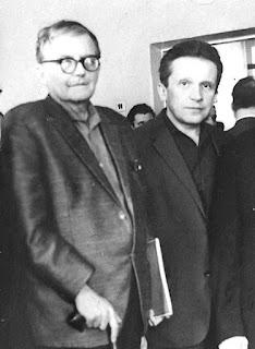 Dmitri Shostakovich and Mieczyslaw Weinberg together in Moscow