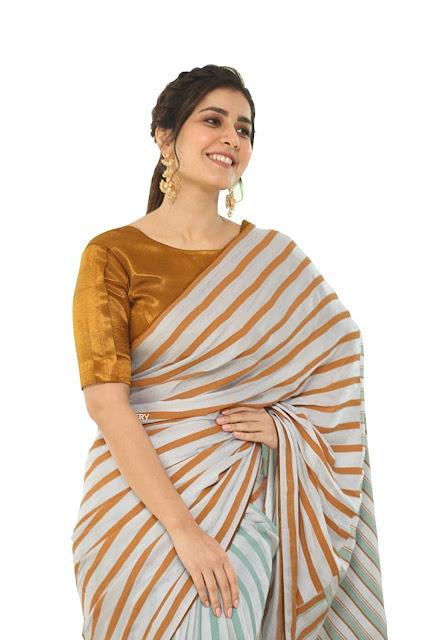 Rashi Khanna Stripes Sareee