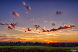 Cloud structure at Sunset
