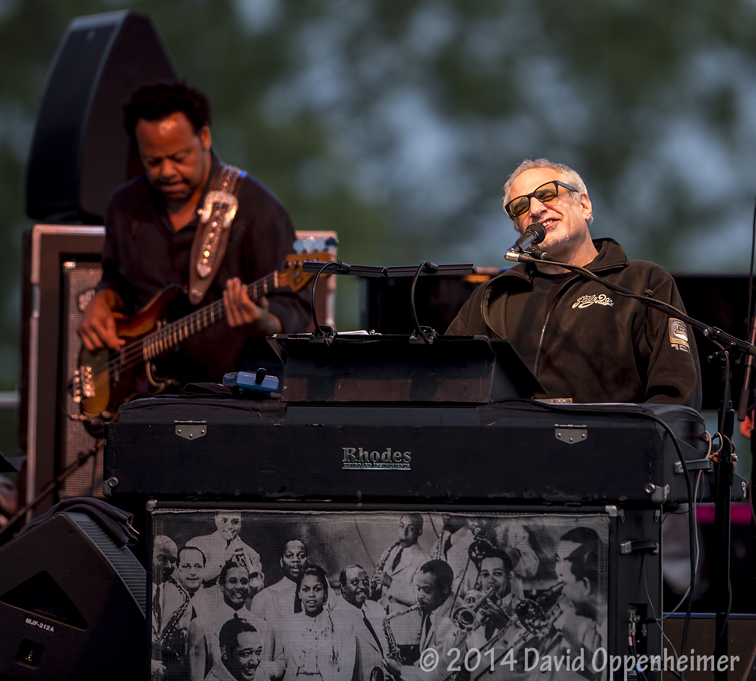 Donald Fagen and Freddie Washington with Steely Dan