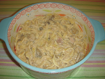 Microwave Tuna and Noodle Parmesan | Margaret's Morsels