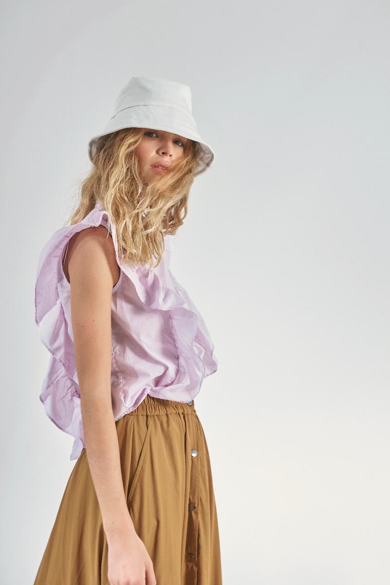 blusas de moda mujer verano 2021 volados