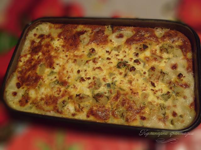 Огретен от картофи със сирене