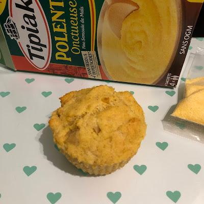 Muffins à la polenta Tipiak, au comté et aux oignons avant cuisson