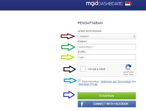 isi data pendaftaran Mgid