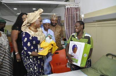 First Lady celebrates birthday in style, makes hospitals her port of call