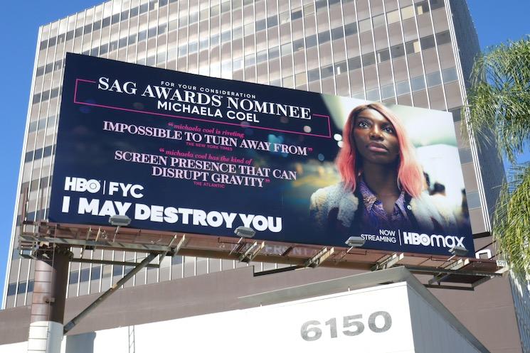 Michaela Coel I May Destroy You SAG Awards nominee billboard