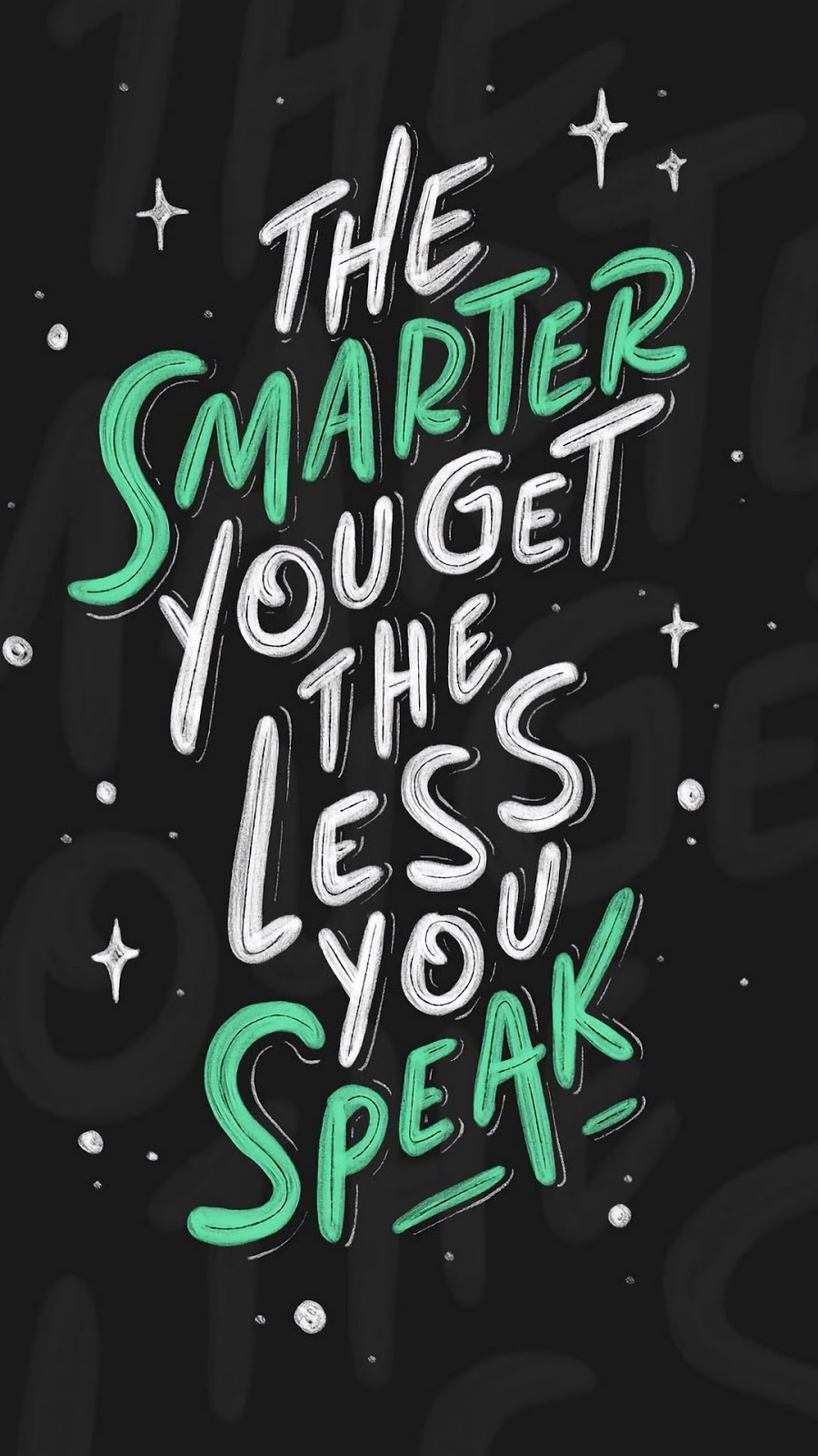 The smarter quote mobile wallpaper