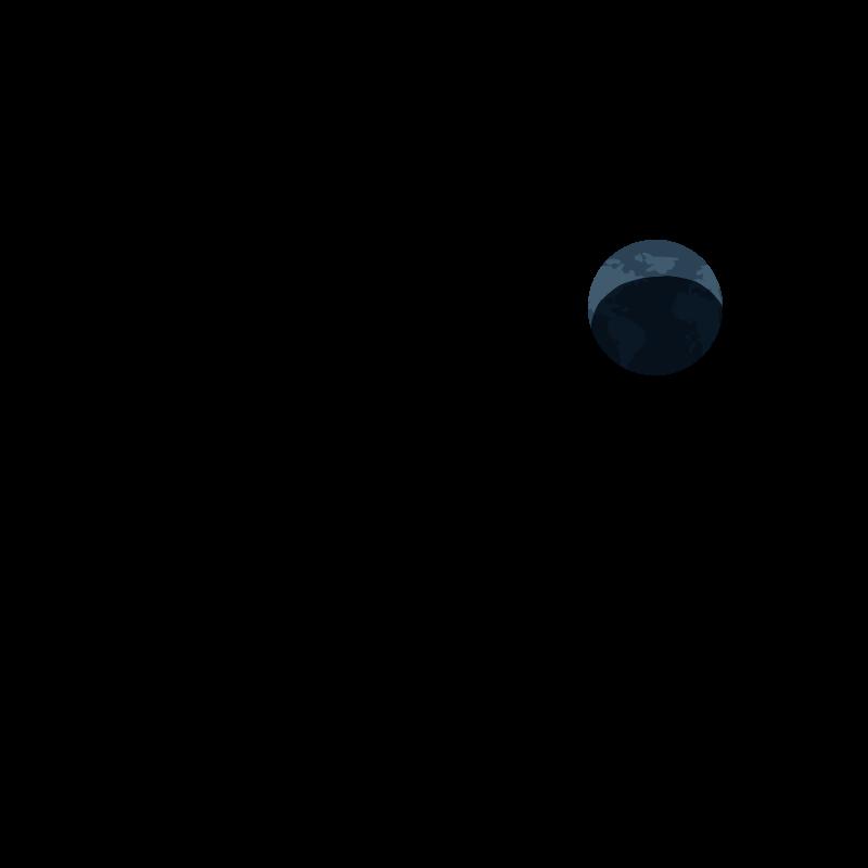 宇宙から見た地球のイラスト