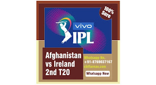 Afghanistan vs Ireland 2nd T20 Today Match Winner & Betting Tips