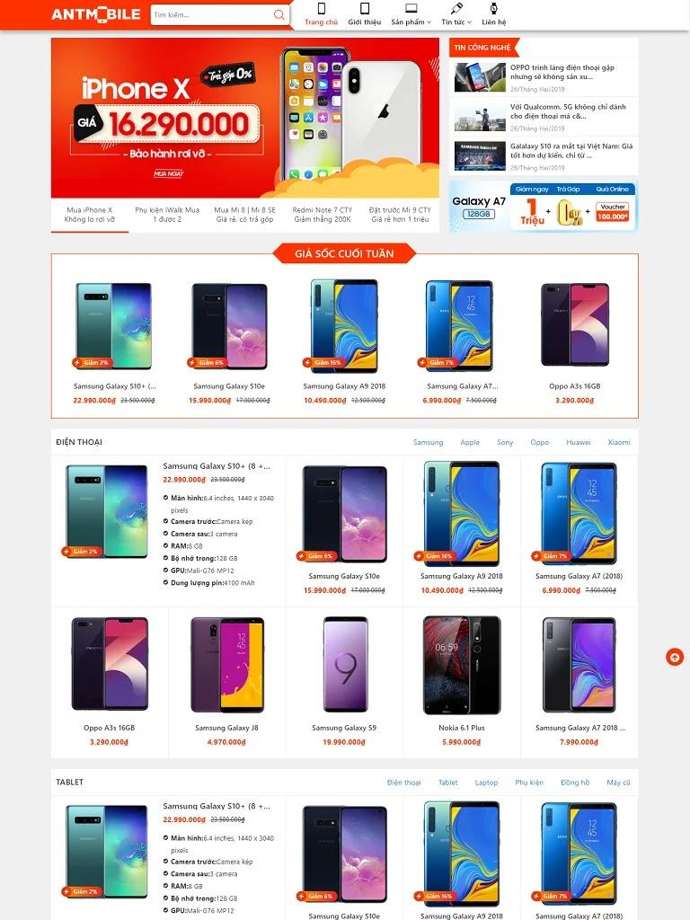 Template blogspot bán điện thoại chuẩn đẹp
