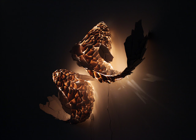 Green Pear Diaries, arte, esculturas, Frank Gehry, Fish Lamps