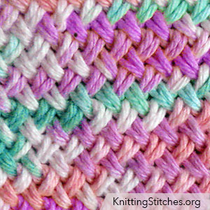 Knit Criss Cross Stitch In The Round. I love the woven pattern that this stitch creates.
