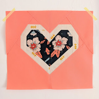 foundation paper pieced fpp heart pattern