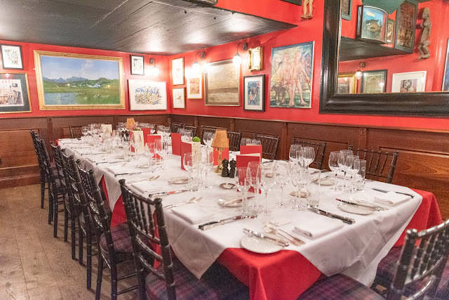 Gallo super premium wine Boisdale dinner