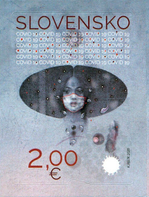 Koronavirus aiheinen postimerkki Slovakia