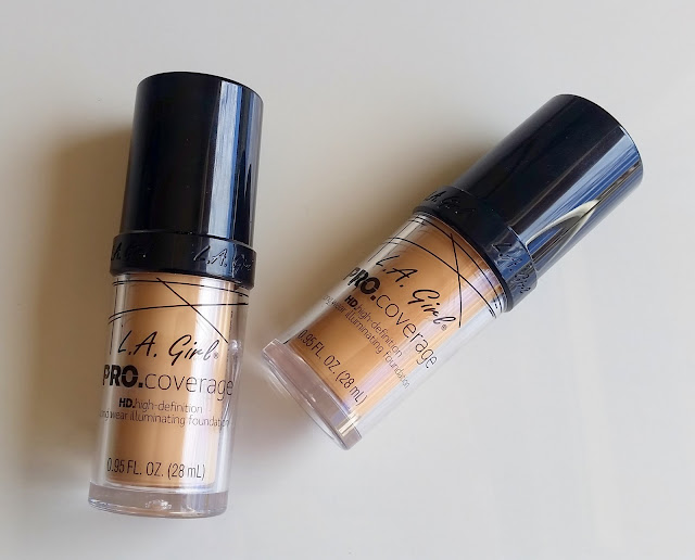 L.A. GIRL PRO COVERAGE HD HIGH DEFINITION LONG WEAR ILLUMINATING FOUNDATION