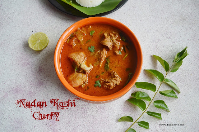 Nadan Kozhi Curry | Nadan Chicken Curry | Kerala Style Chicken Curry