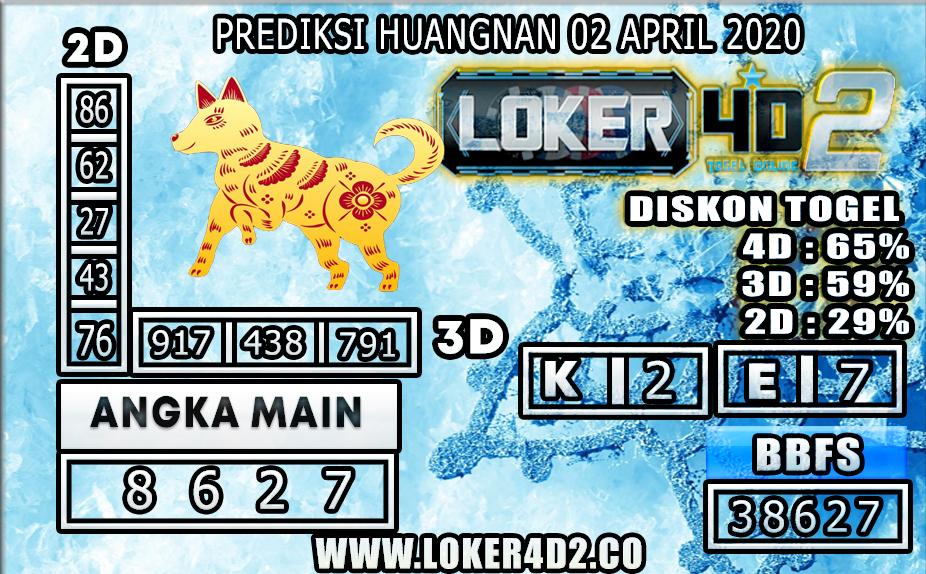 PREDIKSI TOGEL HUANGNAN LOKER4D2 02 APRIL 2020