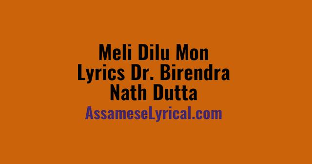 Meli Dilu Mon Lyrics