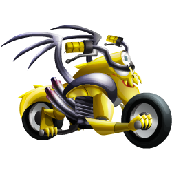 Appearance of Motorbike Dragon when teenager