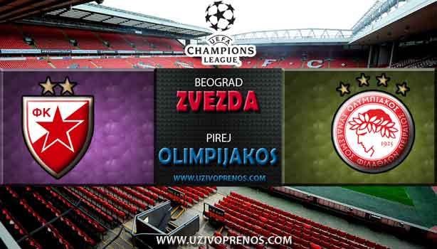 Liga šampiona: Crvena Zvezda - Olimpijakos uživo prenos
