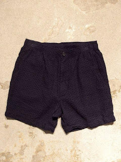Engineered Garments Long Beach Short in Navy Geo Jacquard