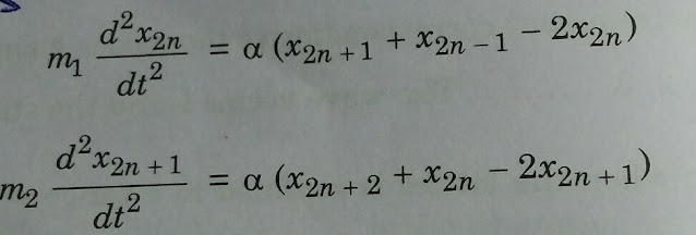 Equation of motion of two atom