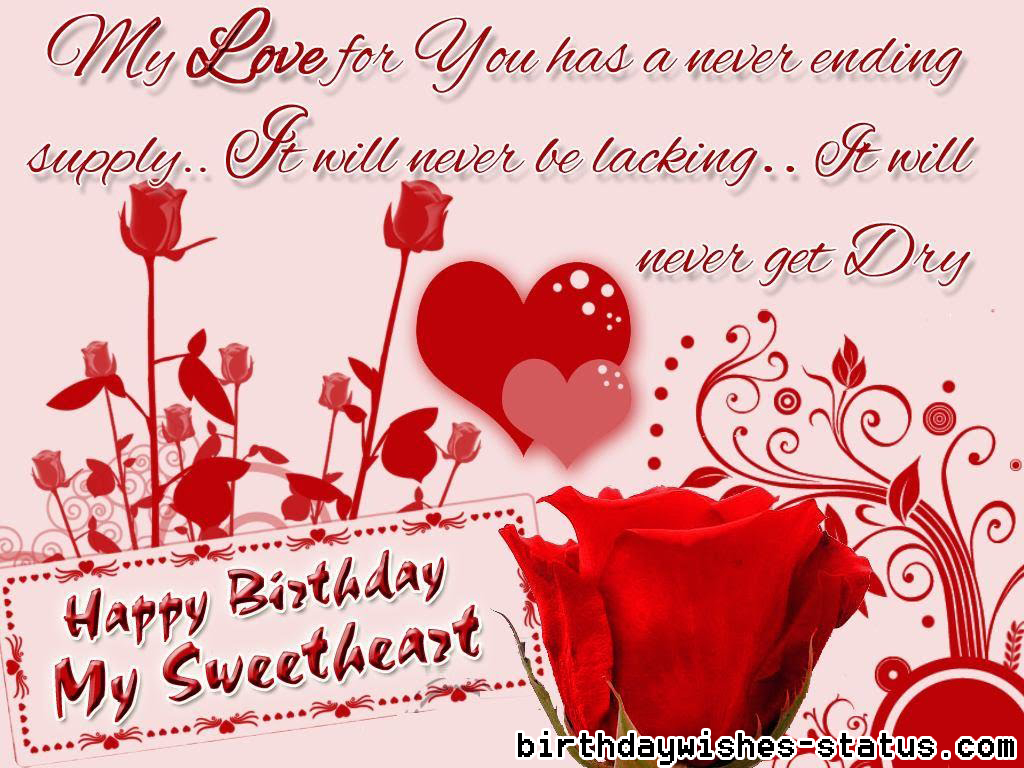 Birthday Wishes For Sweetheart Birthday Wishes Status