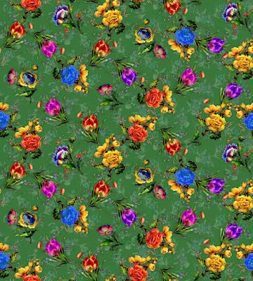 flower textile repeat 7051