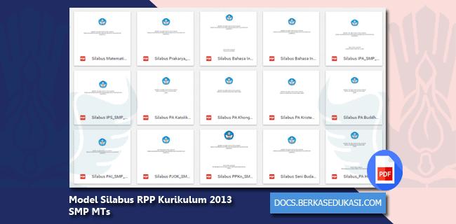 Model Silabus RPP Kurikulum 2013 SMP MTs