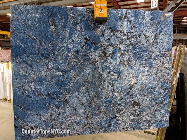 Blue Granite Stone Slab NYC