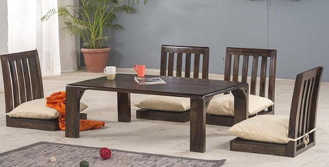 Low Japanese Dining Table Sets