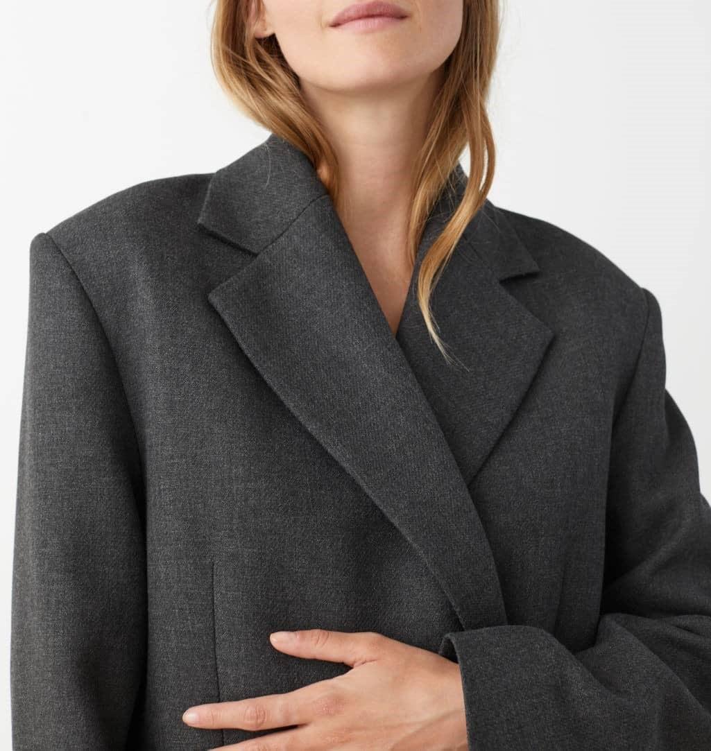 boxy double breasted blazer