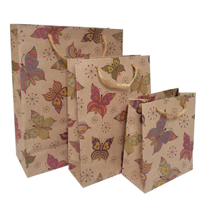 Shop Nile Corp Wholesale Butterfly Kraft Paper Gift Bag