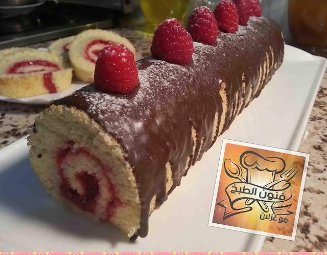 Buche de Noel،Swiss roll،cake roll،sponge cake