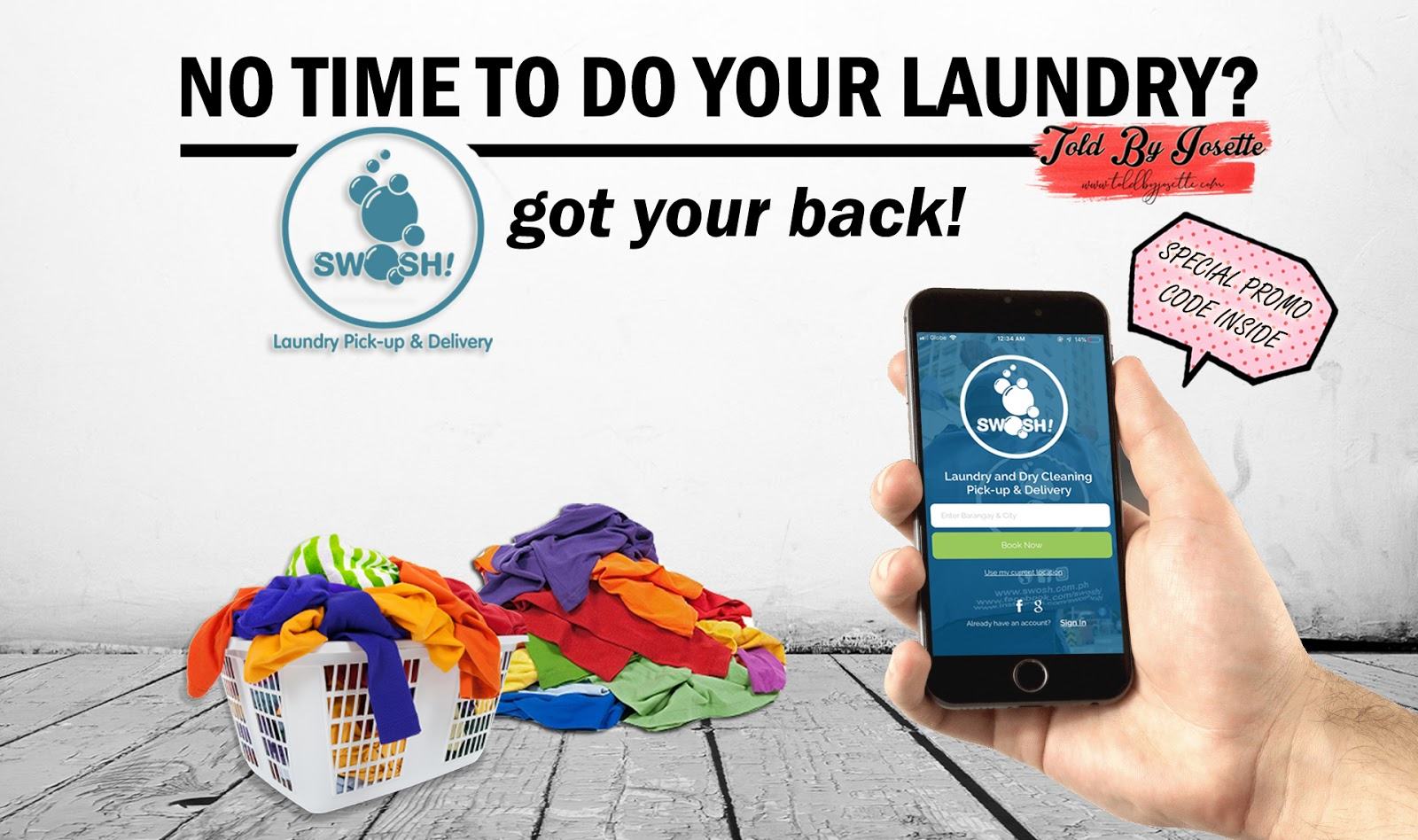 Swosh Laundry Cleaning Mobile App: Making Laundry Less of Your Worries!