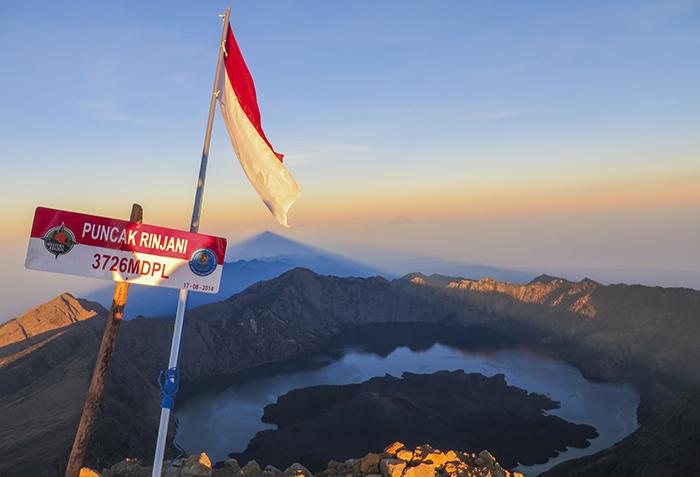 Puncak Gunung Rinjani; 3726 Mdpl
