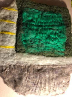 Wet-Felting a Cave: Creating a Play Mat - Part 6