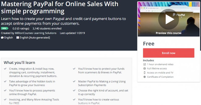 [100% Free] Mastering PayPal for Online Sales With simple programming