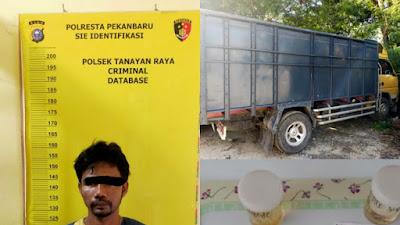 Dua tersangka penyalahgunaan Narkotika Diamankan Polisi Saat Makan Nasi Goreng.
